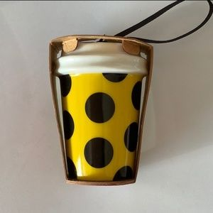 New Starbucks polka dot ceramic ornament